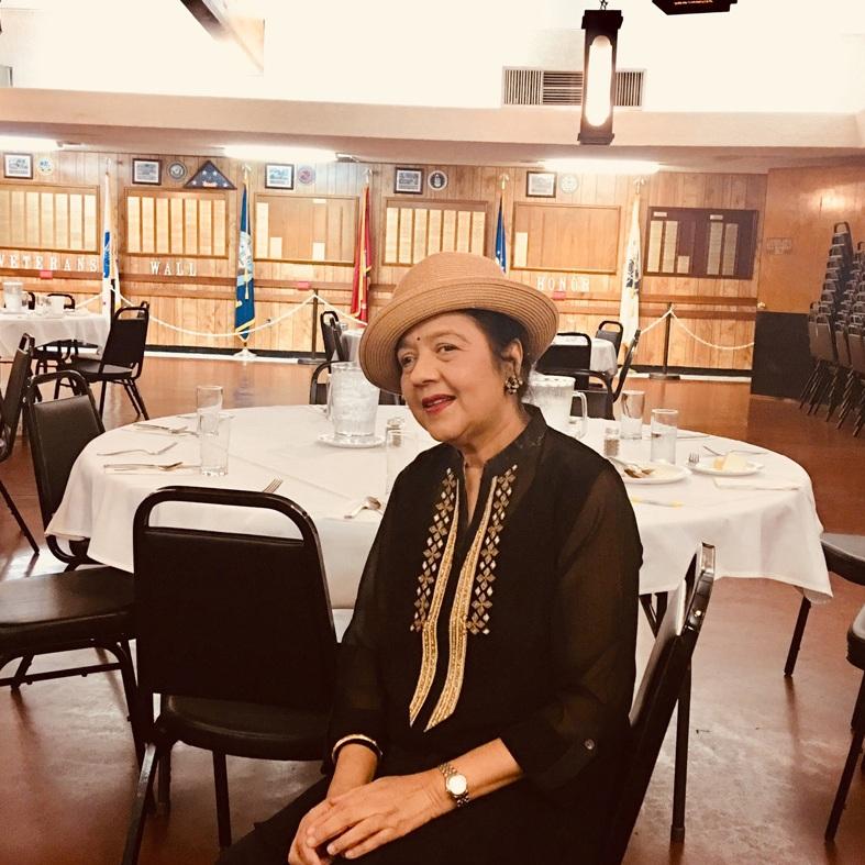 Dr. Rajshree at Elk Lodge.