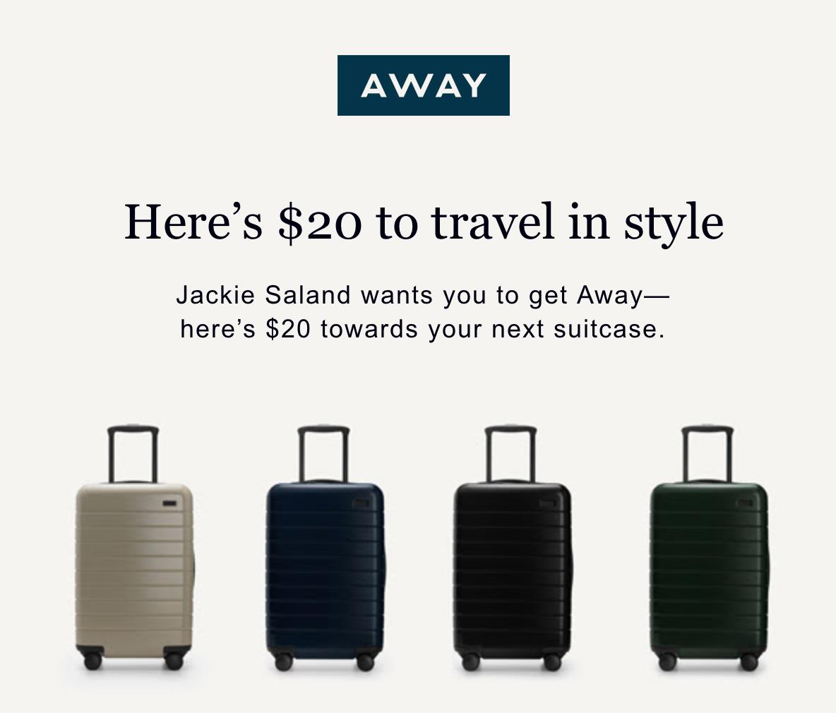 $20 off anyaway bag -