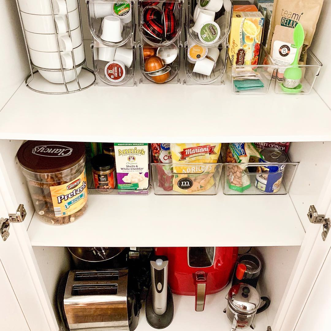 Pantry Organization - Thanks to M Design home decor storage solutions I have been able to organize our kitchen into its max space potential. Their numerous pantry lid storage organizers, coffee and tea holders, is more than! Its more than functional, it's also stylish - durable and at an affordable price !( Shop more of their home storage solutions here)