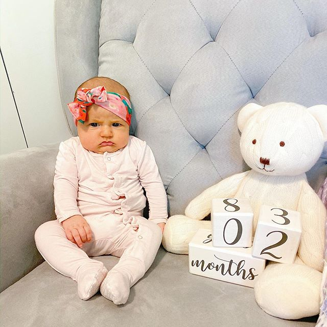 someone wasn't feeling their milestone photo shoot today 😂 & i'm just over here feeling all the feels that our baby is already 2 months old 😭 (is she still considered a newborn!?) i've shared our top 5 most useful baby items from these first 2 months on the blog! #linkinbio #2monthsold #oursweetcharliegirl