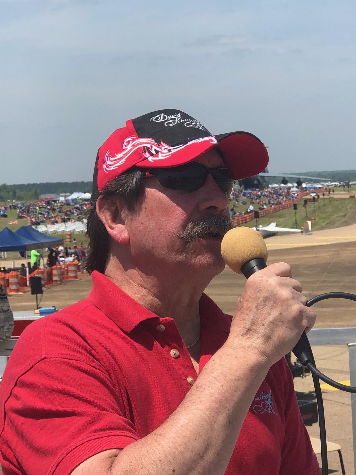 """Howard """"Howdy"""" McCann Jr – ANNOUNCER – David Schultz Airshows LLC"""