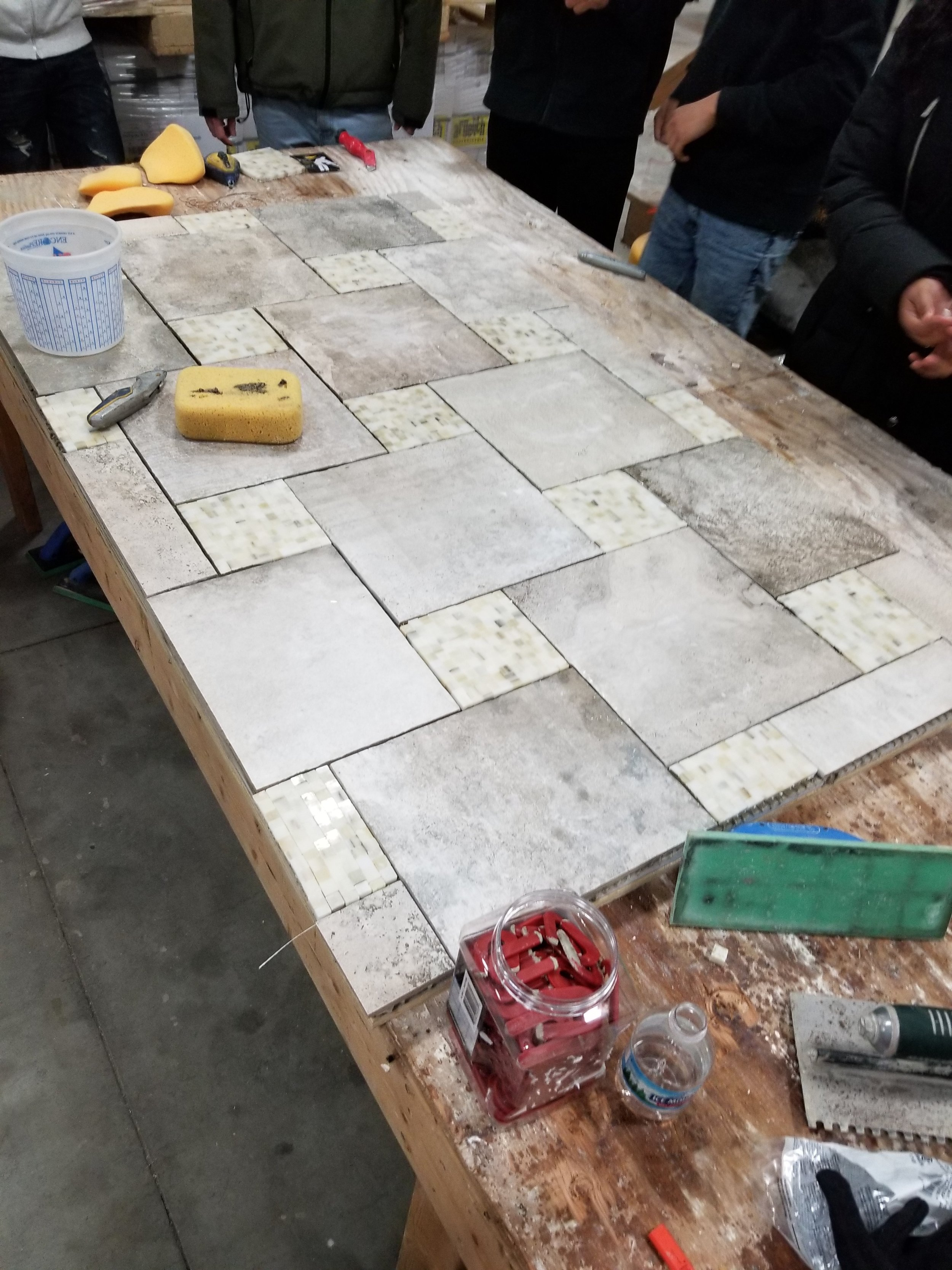 Installation process, before grouting