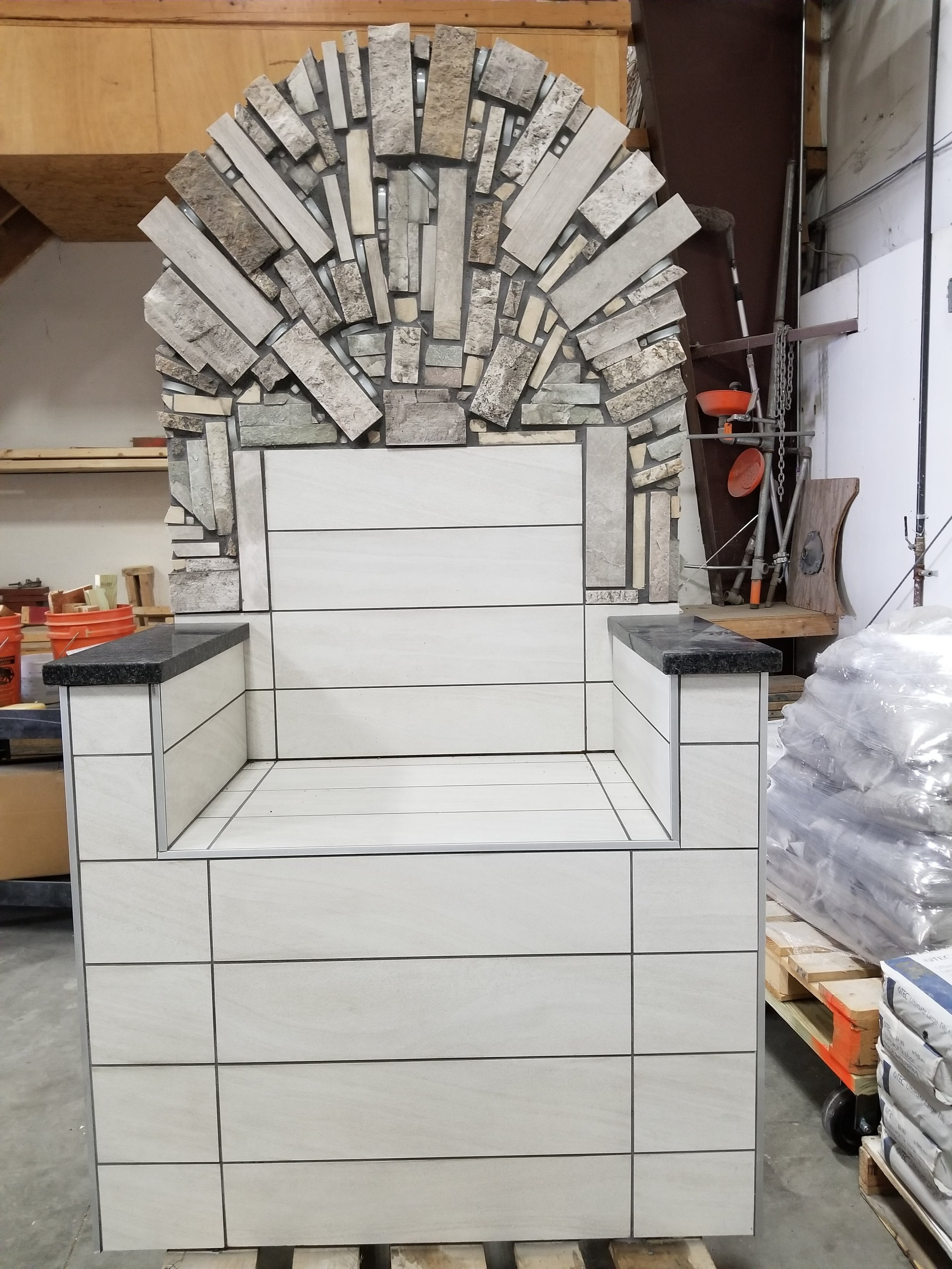 The completed Tile Throne
