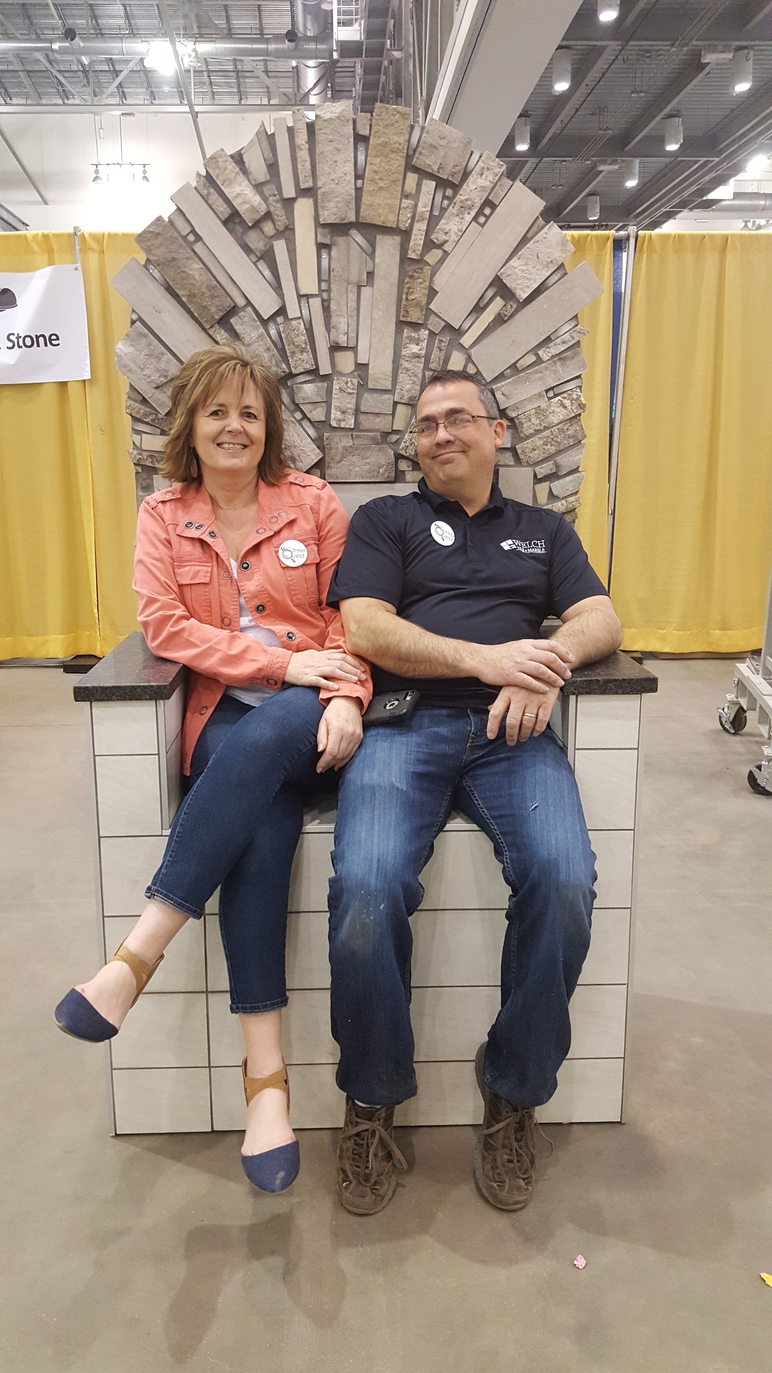 The King and Queen of Welchteros!  Our President, Dan, and his wife, Doreen, our Safety  Manager
