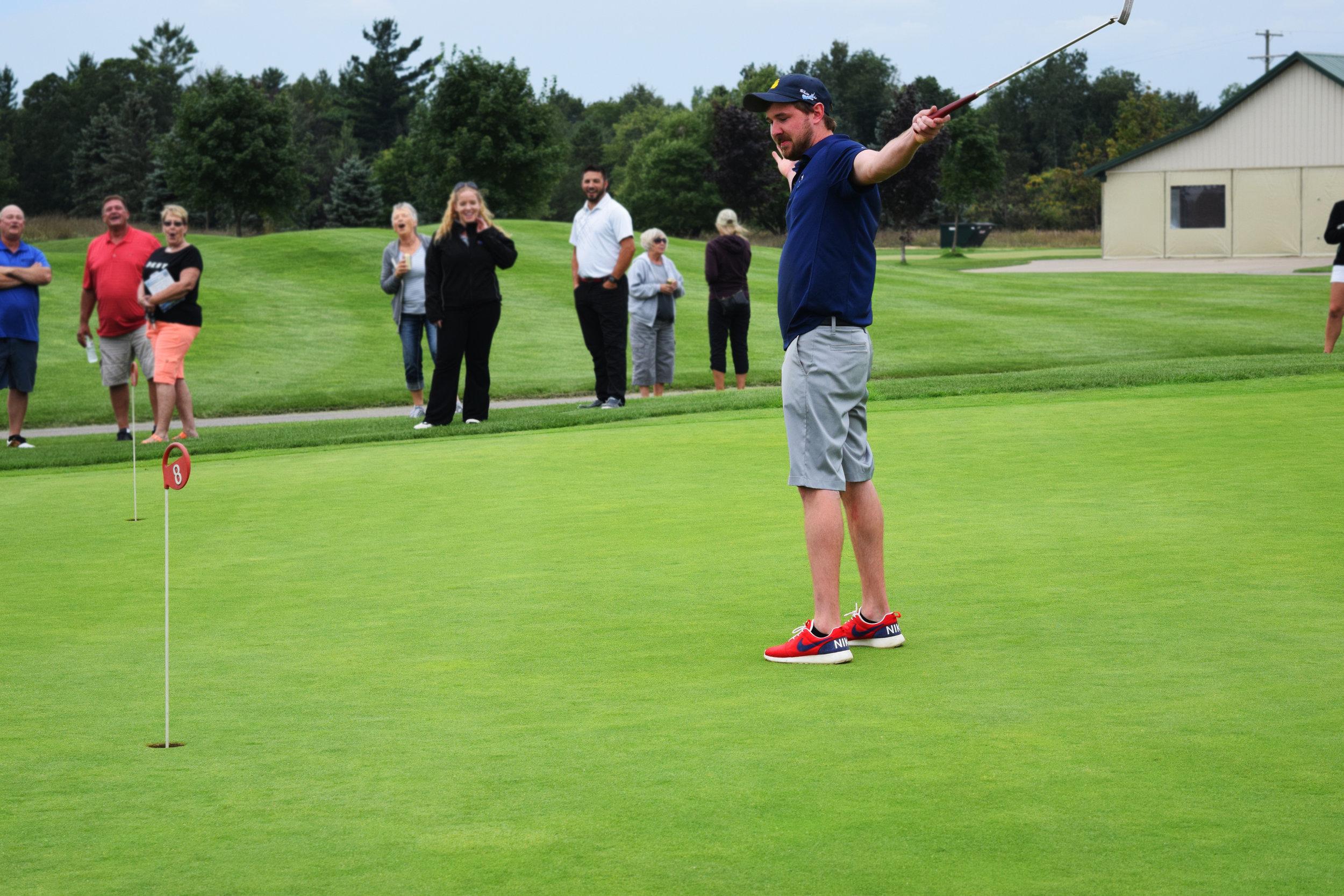 The winning putt!