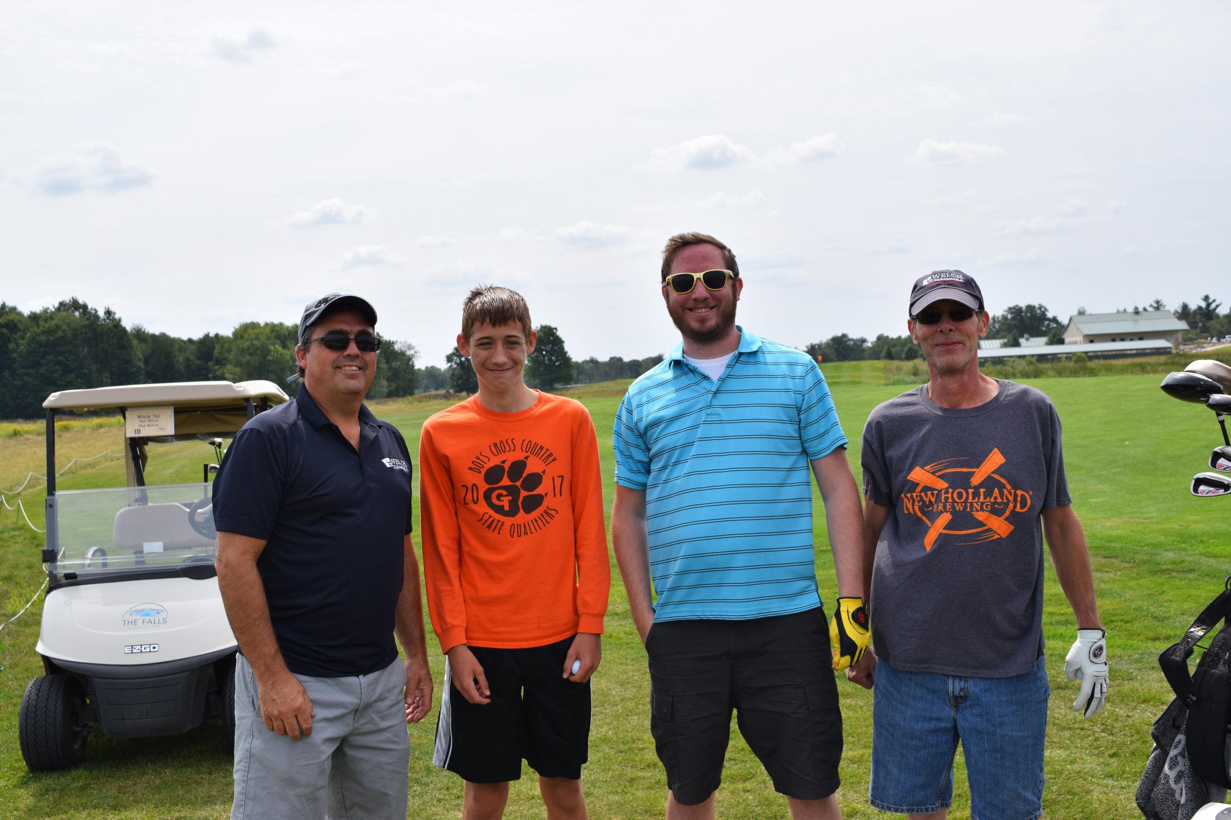 Team: Left to right- Dan Welch, Reece Welch, guest of Jeff Beek, Jeff Beek