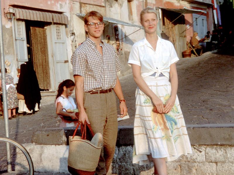 Matt Damon and Gwyneth Paltrow as Tom Ripley and Gwyneth Paltrow