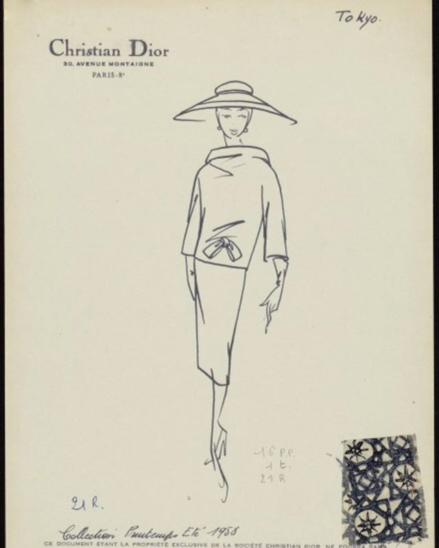J'adore. Dior exhibition opening 2 February at V&A London. #dior #V&A #london #londonfashion #exhibitions #vintagedior #fashionarchives #fashionillustration #croquis