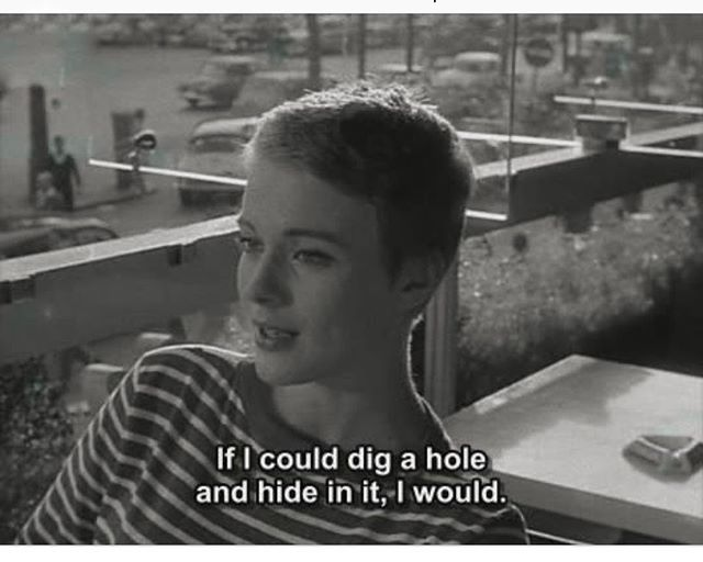 Wednesday mood #mercredi #wednesday #jeanseberg #aboutdesouffle #breathless #frenchcinema #nouvellevague