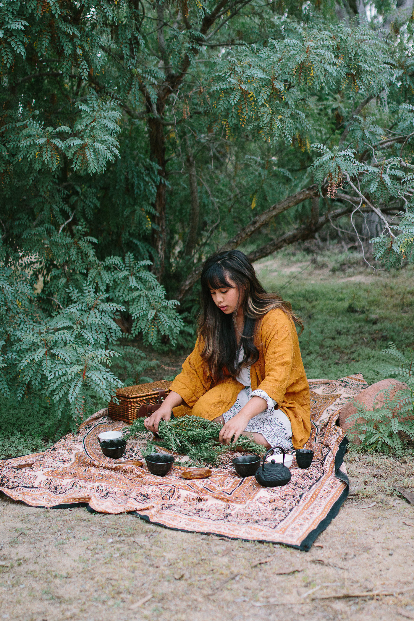Photo of Colleen preparing tea by Ashley Gabrielson