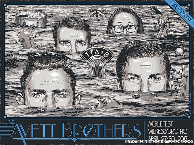 The Avett Brothers: Merlefest 2017 Blue Variant
