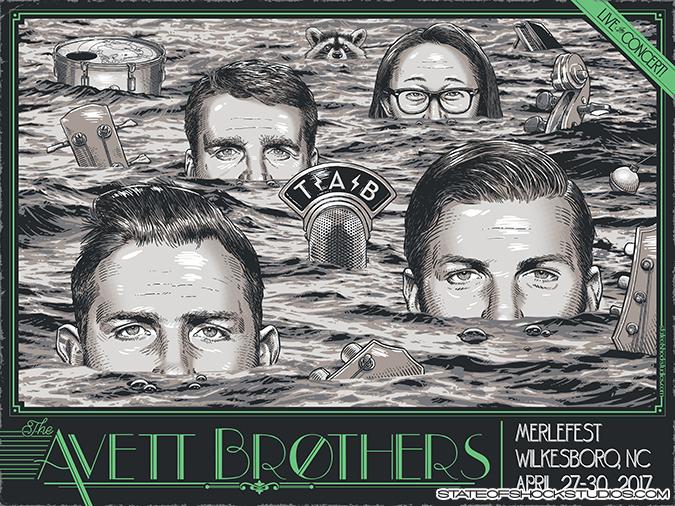 The Avett Brothers: Merlefest 2017 Green Variant