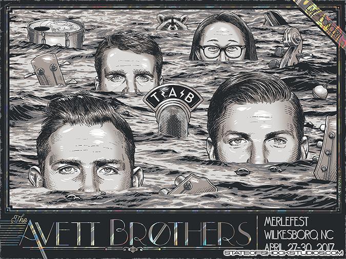The Avett Brothers: Merlefest 2017 Lava Foil