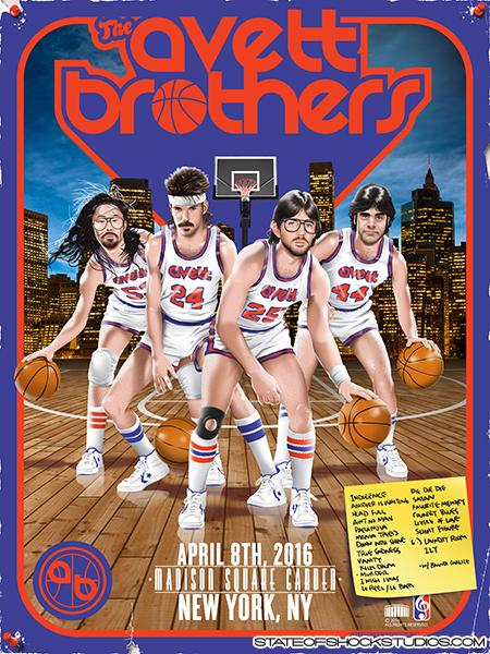 The Avett Brothers: New York 2016 Setlist Variant