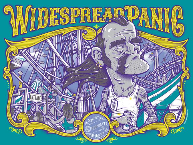 Widespread Panic: Cincinnati 2013 Green Variant