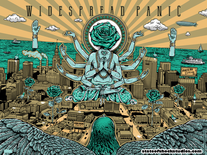 Widespread Panic: Cleveland 2014 Green 2 Variant