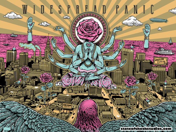 Widespread Panic: Cleveland 2014 Pink Variant