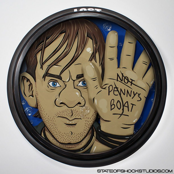 "Not Penny's Boat   2013. Mixed media, 20x3x20"". SOLD"