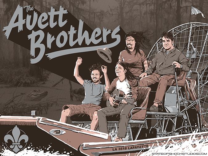 The Avett Brothers: Lafayette 2018 Grey Variant