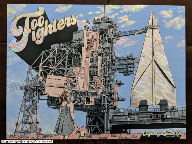 Foo Fighters: Cuyahoga Falls 2018 Lava Foil