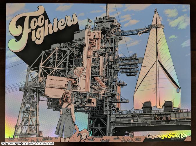 Foo Fighters: Cuyahoga Falls 2018 Rainbow Foil