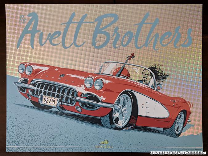 Avett Brothers: Bowling Green 2018 Matrix Foil
