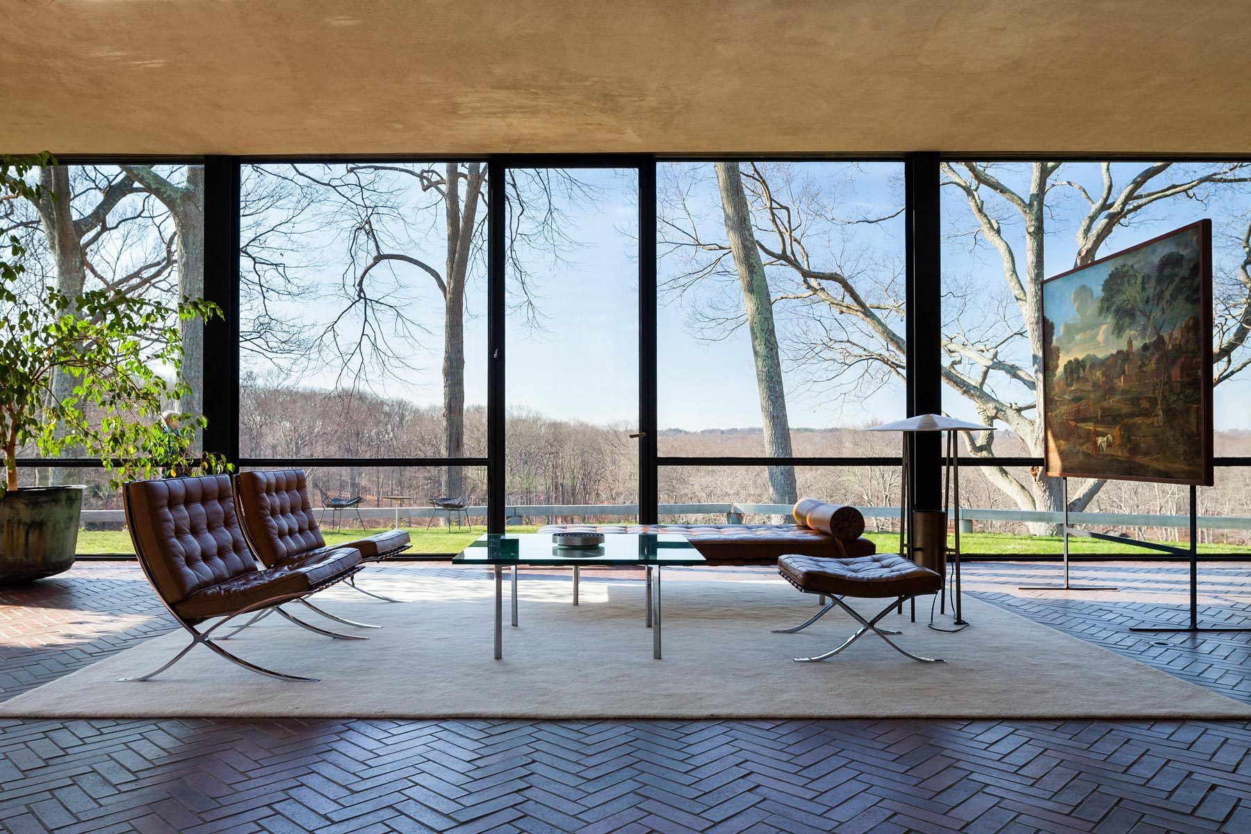 Philip Johnson's Glass House interior – New Canaan, Connecticut