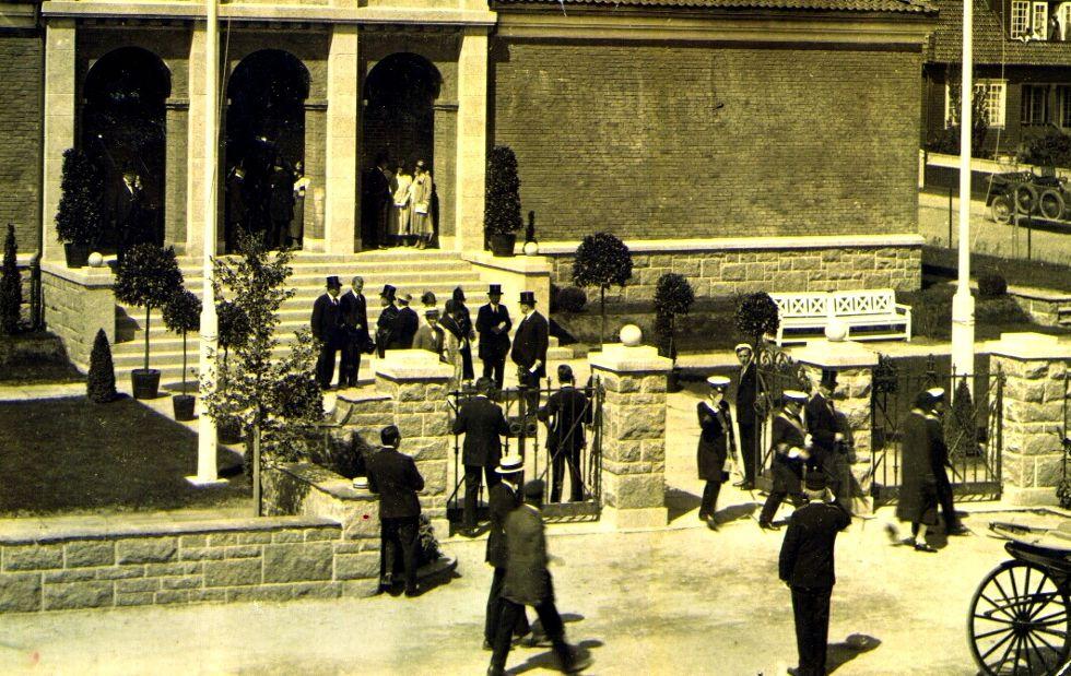Kong Haakon VII var tilstede da nybygget til Stavanger kunstforening på Madlaveien ble offisielt åpnet i 1925. Foto: John Kjølvik
