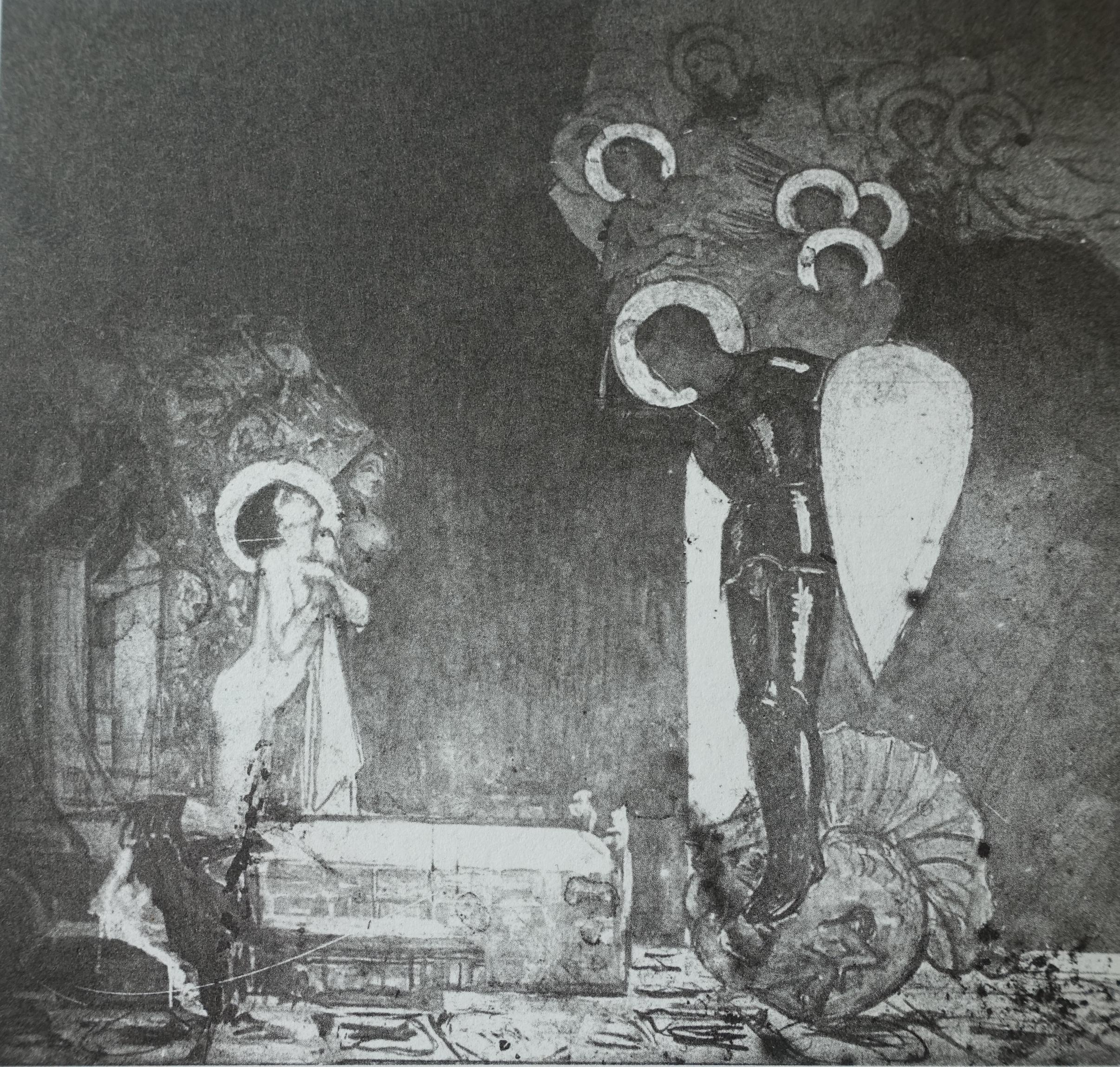 Detalj fra  De elleve tusen jomfruer , Olaf Lange (Et seks meter langt triptykon).