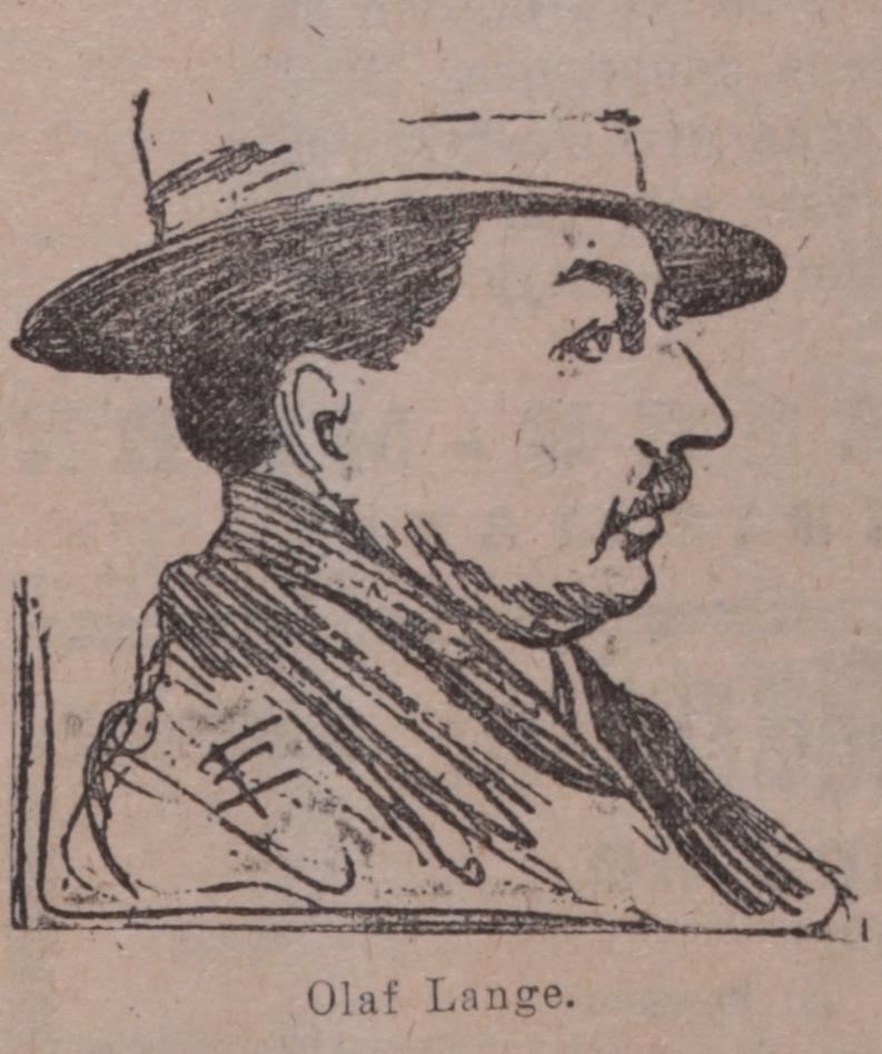 Tegning av Olaf Lange, publisert i Tidens Tegn, 1. september 1920.