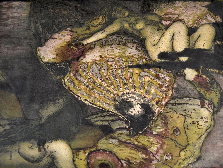 Kvinner spiddet på sommerfugler , Olaf Lange, 1904
