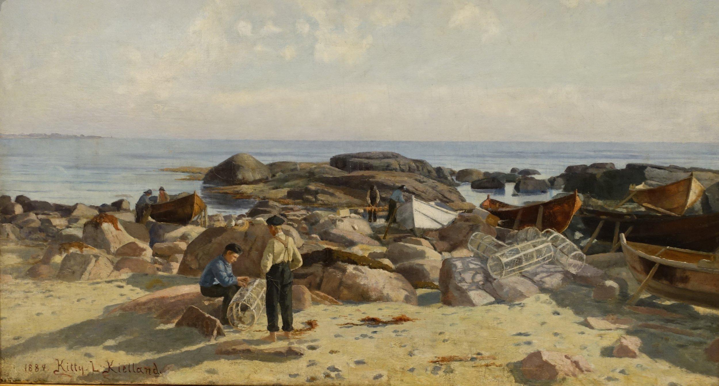 Kitty Kielland , Hummerfiskere , 1884