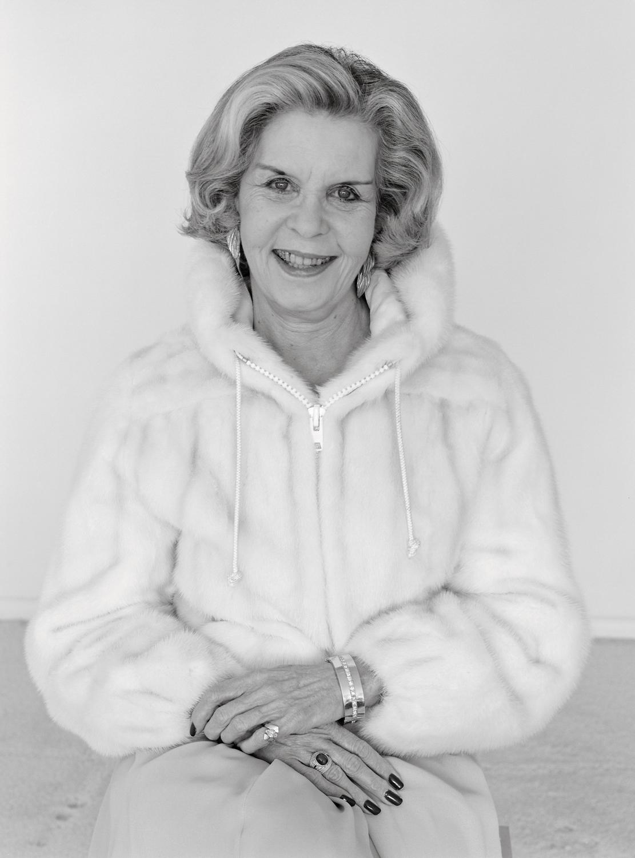 Gina Stern in her mink parka, Houston, TX, 1982