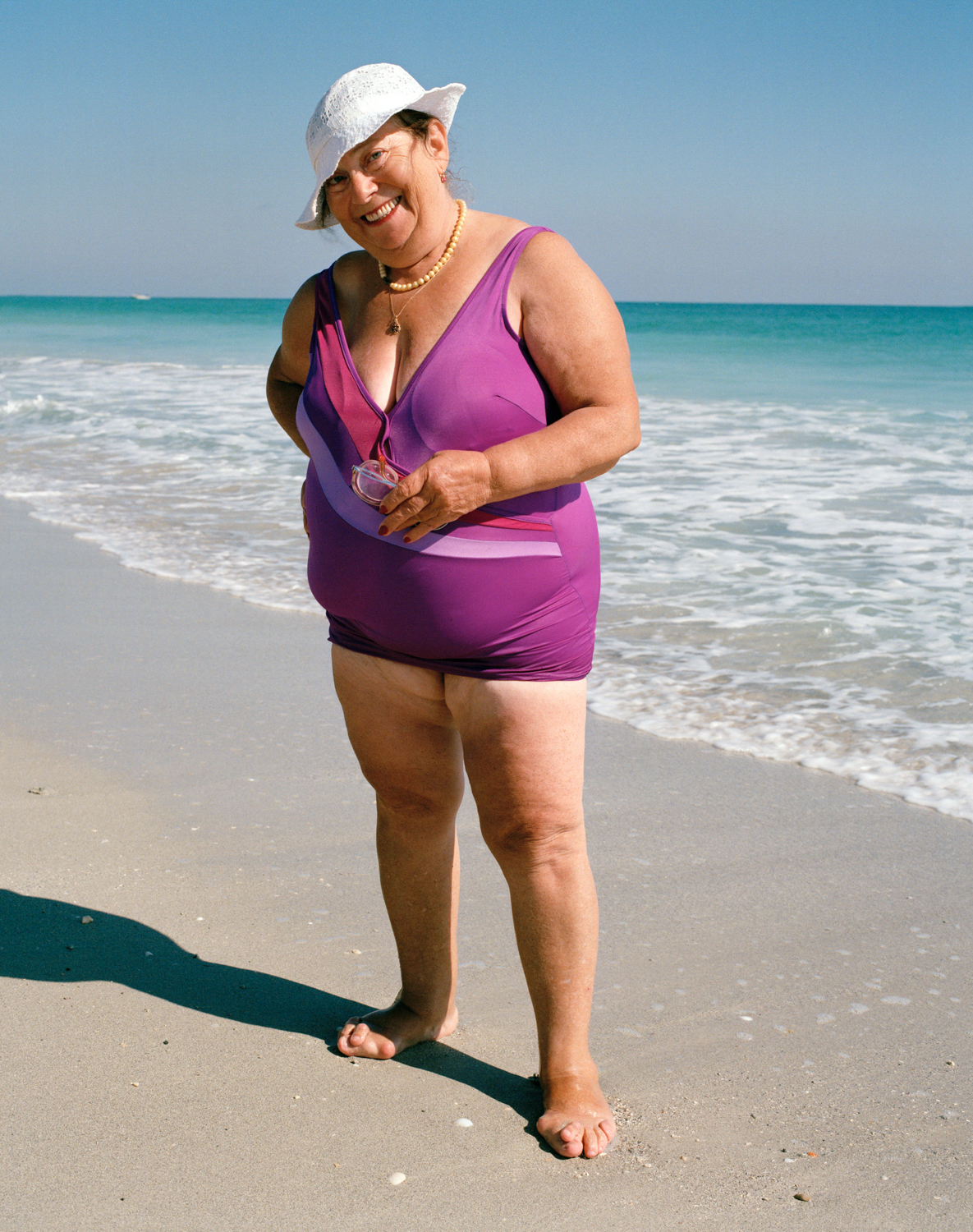 Untitled (Woman in Purple Bathing Suit) Miami - South Beach 1982/1985