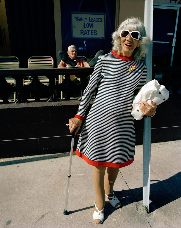 Untitled (B&W Striped Dress)   Miami - South Beach 1982-85