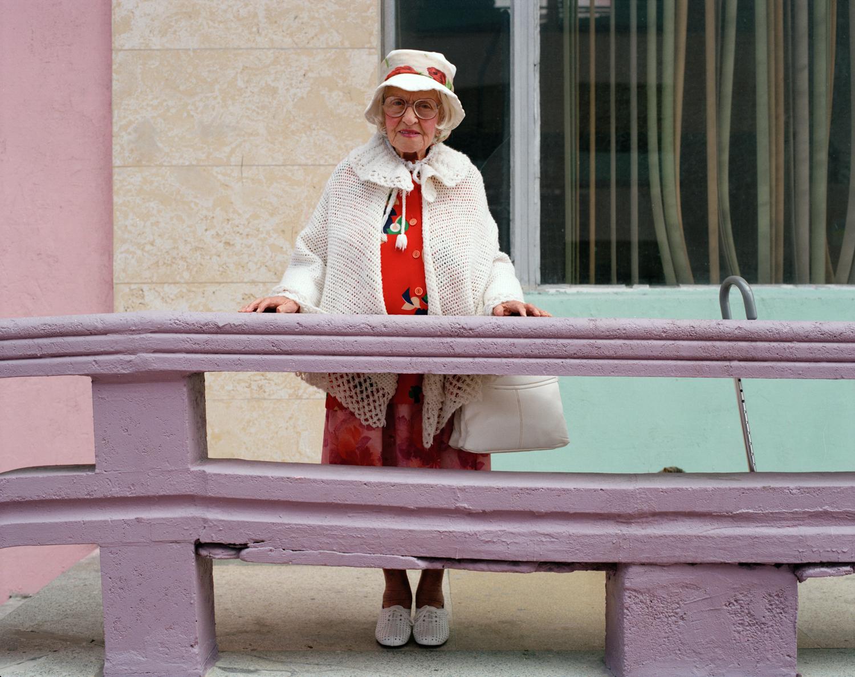 Untitled (Woman on Purple Porch) Miami - South Beach 1982-85