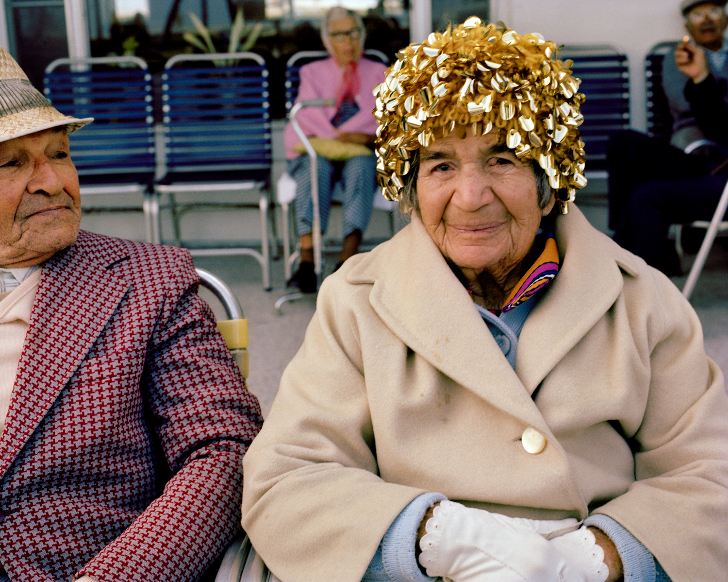 Untitled (Woman with Gold Hat) Miami - South Beach 1982-85