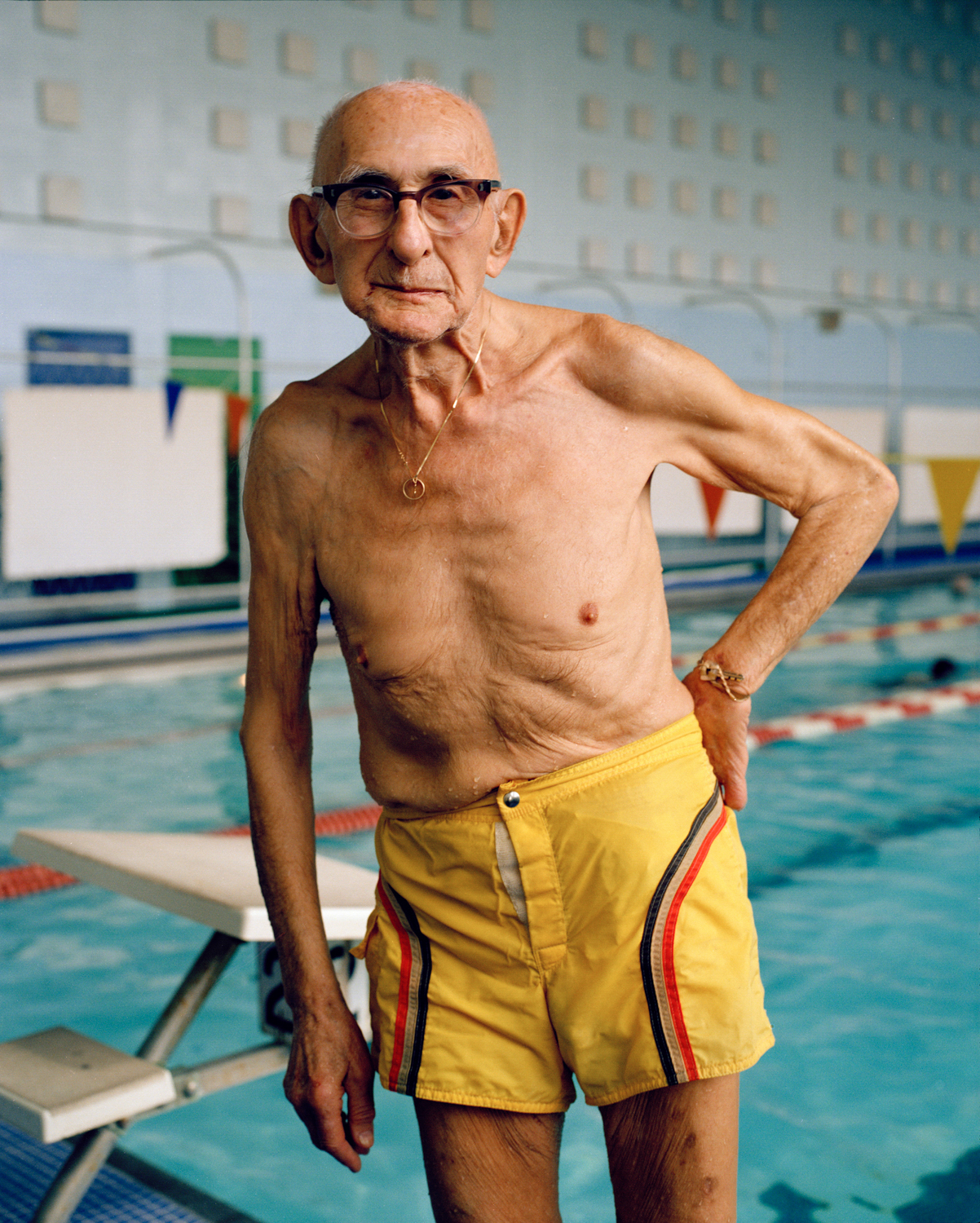 Senior at JCC Indoor Pool, Houston, TX, 1985