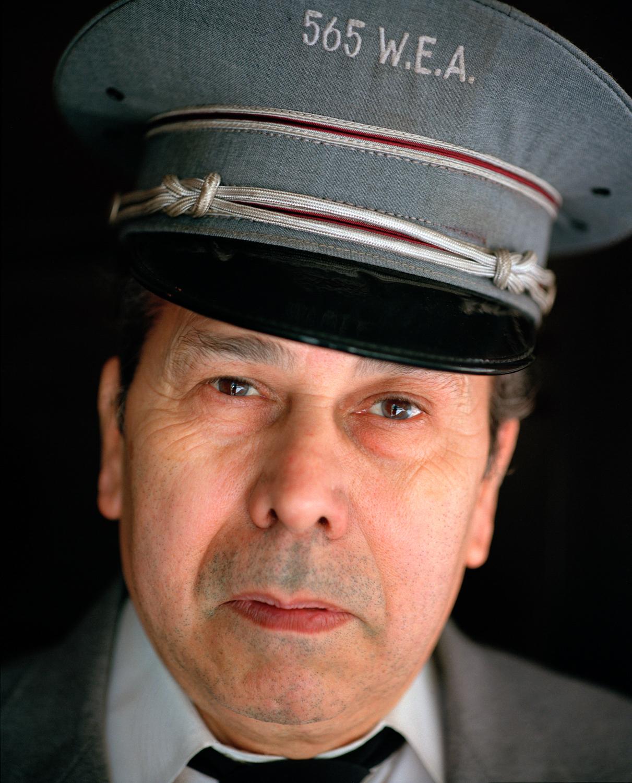 Doorman, on his retirement day, NYC,