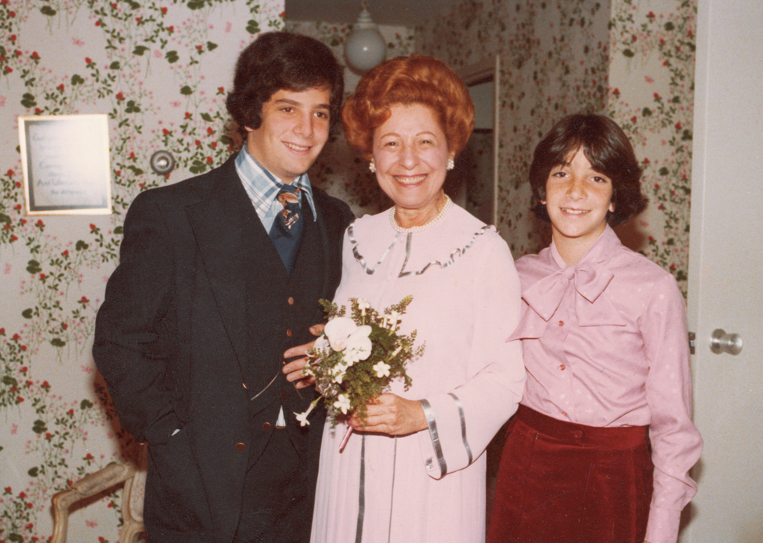 My children, Barry and Alison, at Mother's wedding in 1978.