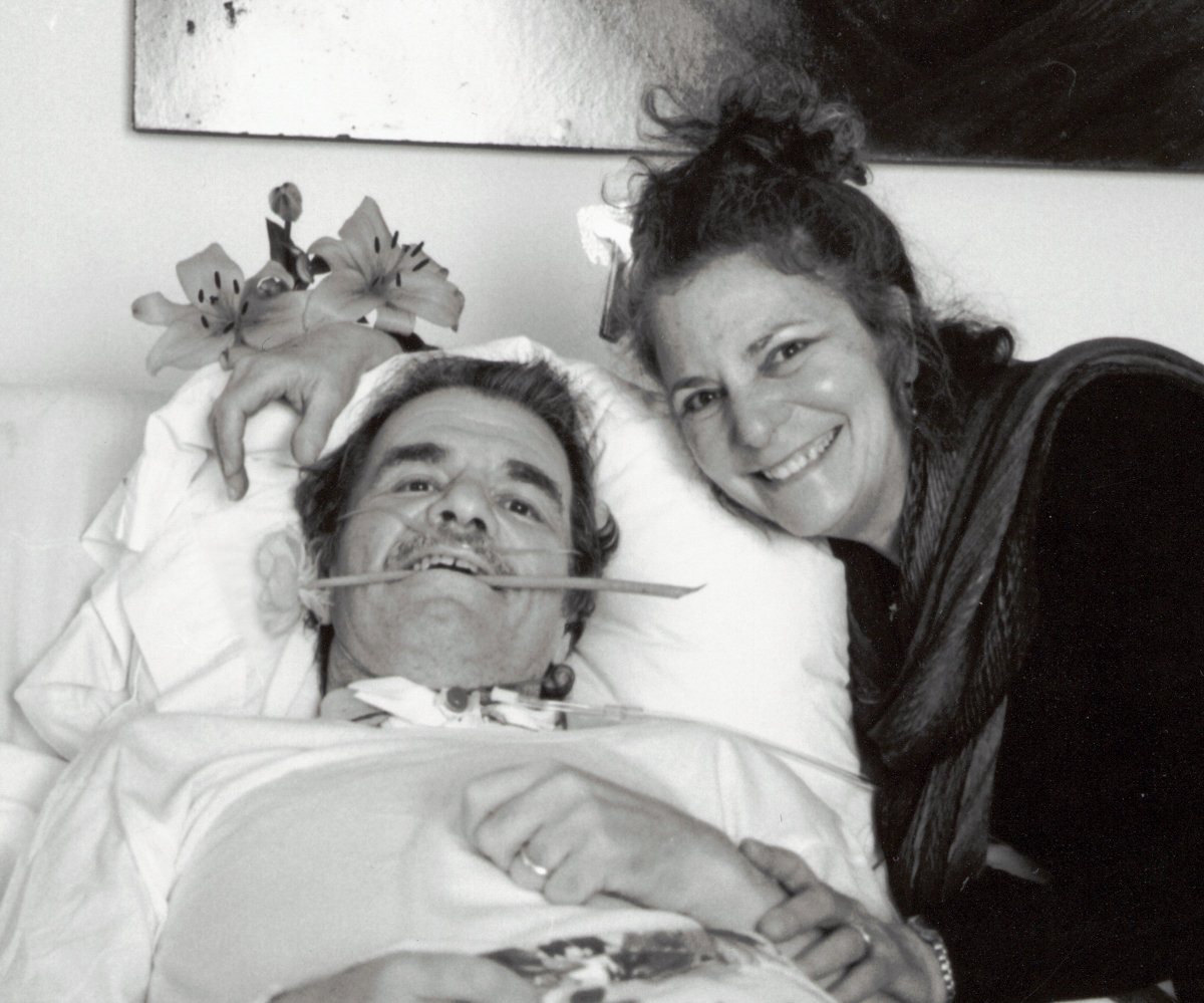 Sidney in hospital after his accident in 1998, after which he lived five years as a paraplegic.