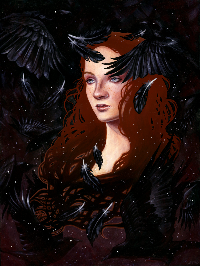 dark wings, dark words - Created for