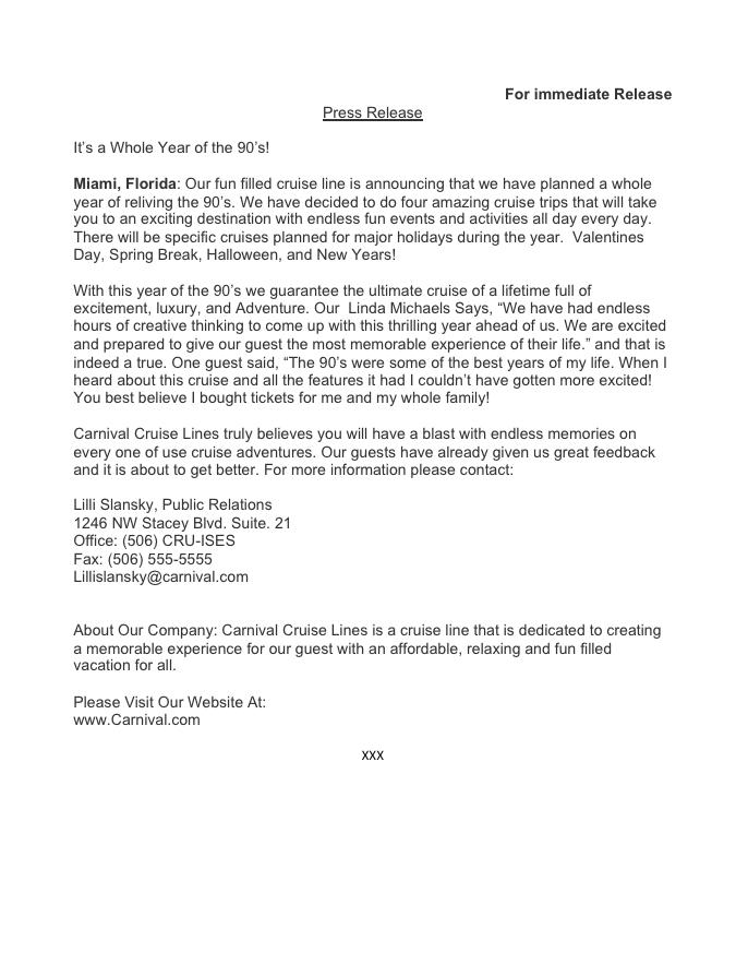 Press Release -