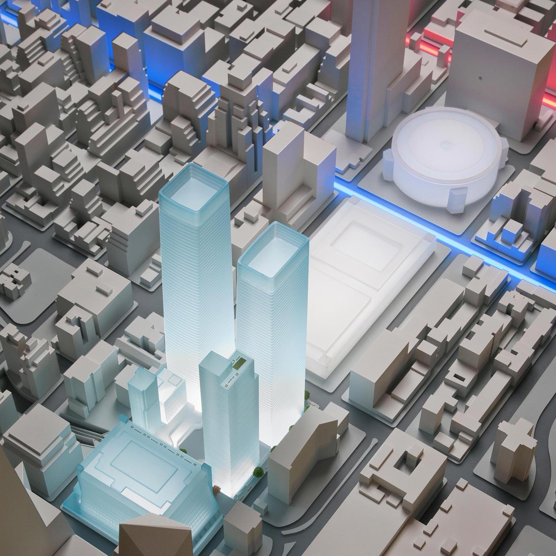 SOM (Skidmore, Owings, & Merrill)  Manhattan Midtown West Site Model