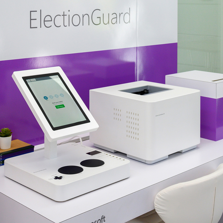 Tucker Viemeister / Microsoft  ElectionGuard Voting Booth