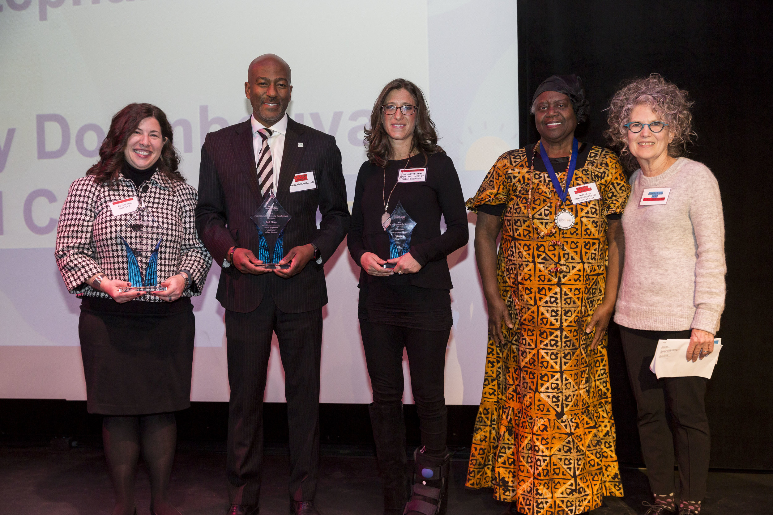 - HOUSING AND COMMUNITY DEVELOPMENT1st: TINA PAGOTTO, BETHESDA PROJECT 2nd: DR. KEVIN JOHNSON, PHILADELPHIA OIC 3rd: STEPHANIE SENA, STUDENT RUN HOUSING UNIT OF PHILADELPHIA4th - 5th: MAMADY DOUMBOUYA, AMERICAN HOMEBUILDERS OF WEST AFRICA & BRAD COPELAND, MT. AIRY CDC