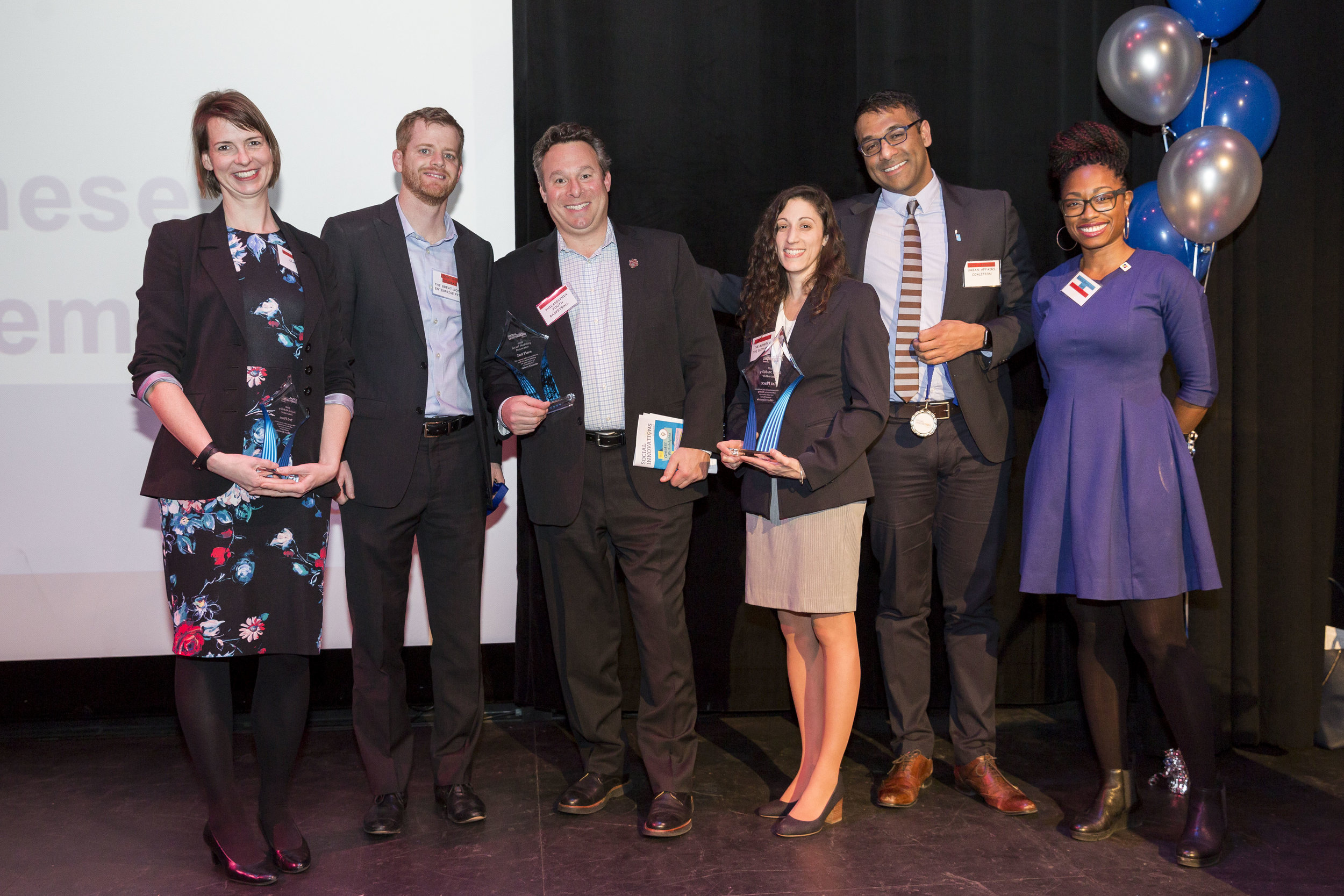 - SOCIAL MOBILITY1st: LISA MICCOLIS, THE MONKEY & THE ELEPHANT2nd: KENNY HOLDSMAN, PHILADELPHIA YOUTH BASKETBALL3rd: MEGAN KIESEL, CLARIFI4th & 5th: JOJY VARGHESE, URBAN AFFAIRS COALITION & JONATHAN COLEMAN,THE GREAT SOCIAL ENTERPRISE PITCH