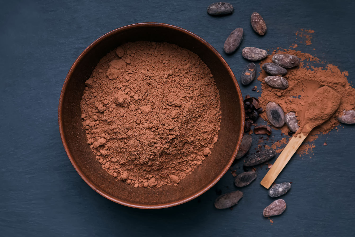 bowl of cacao powder