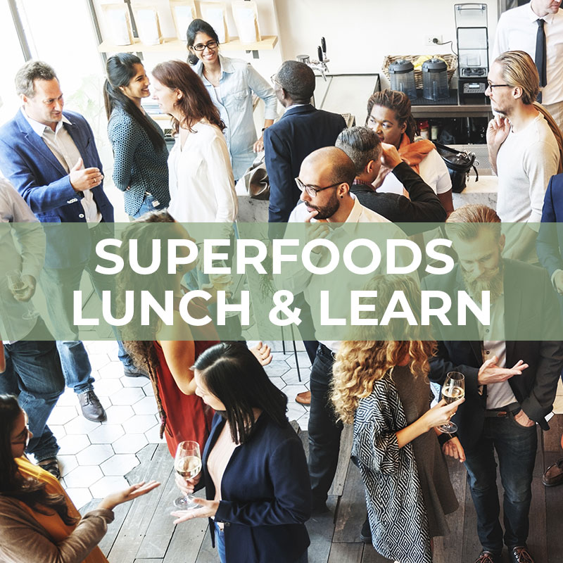 lunch and learn cover photo: people socializing at work