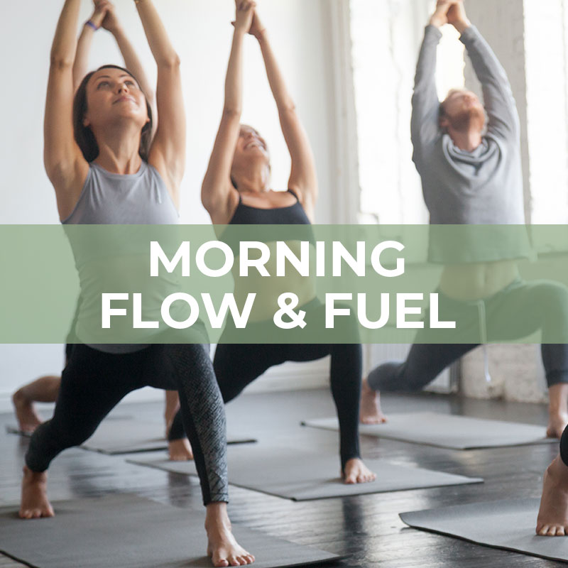 Morning Flow and Fuel cover photo: people doing yoga